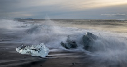 Ice Jewels on the Beach, Sony A7R, Canon 24-70 f/2.8 MKII at 38mm, ISO 50, 1sec at f/16, tripod. Feburary. © Andrew Yu