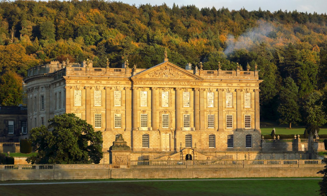 Chatsworth House in evening light. © Chris Gilbert.