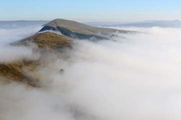 Looking at Back Tor and Lose Hill from Mam Tor summit. © Chris Gilbert