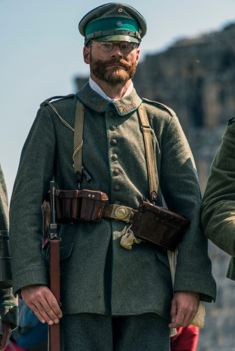 Traditional military uniform of the Great War. Nikon D810, 28-300mm at 300mm, ISO 100, 1/320s at f/8. ©James Rushforth
