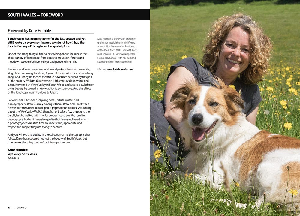 Kate Humble has written the foreword to Drew's book.