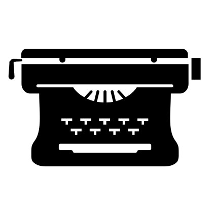 Old fashioned typewriter icon