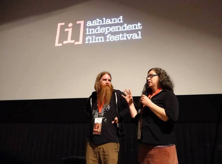 Photo of Shawn Parke and Kim Henninger at the Ashland Independent Film Festival 2 March 2015