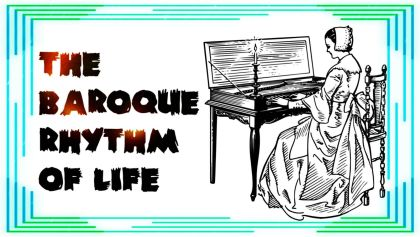 The Baroque Rhythm of Life - woman playing harpsichord / Image made by FOTW Audio Productions