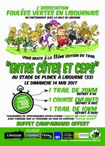"""Trail """"Entre Côtes et Ceps"""" du 14 mai 2017"""