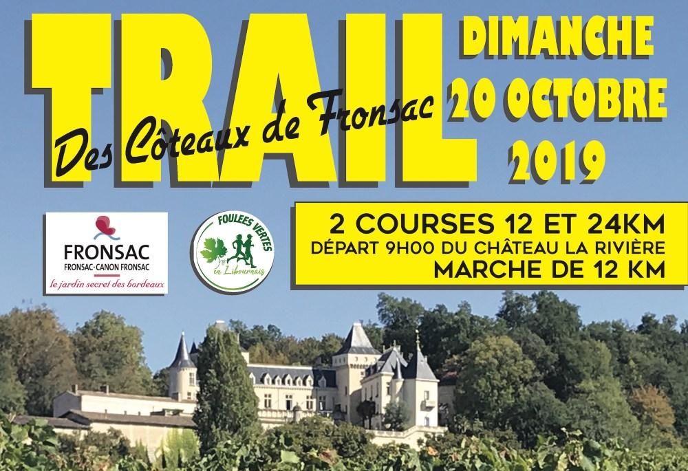 Inscriptions Trail de Fronsac du 20 Octobre 2019