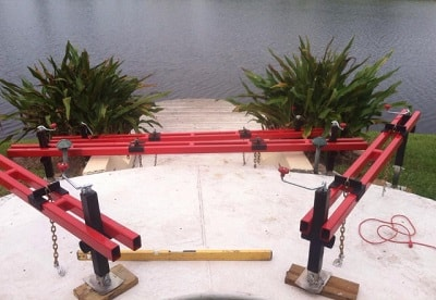 pool deck leveling involves permeation grouting in florida