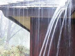 clogged gutters and soil erosion
