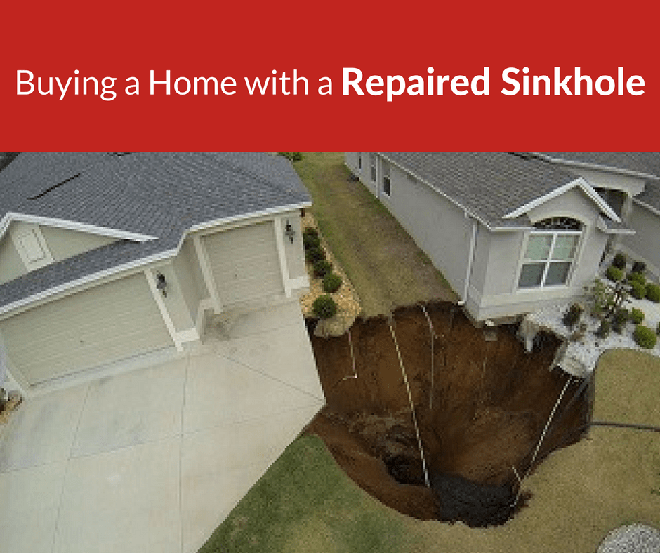 buying a home with repaired sinkhole fl