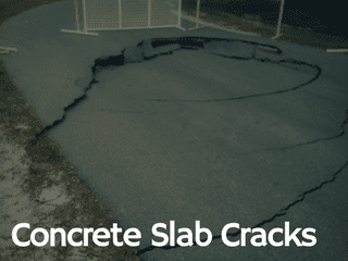 concrete slab cracks