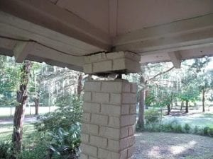 garage column crack