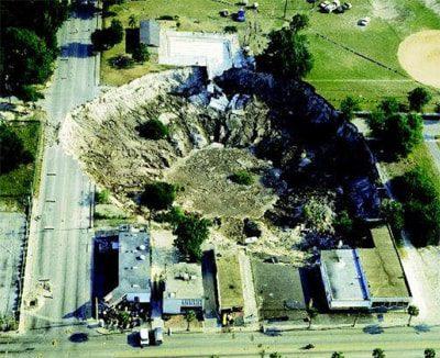 sinkhole Live Oak, Florida