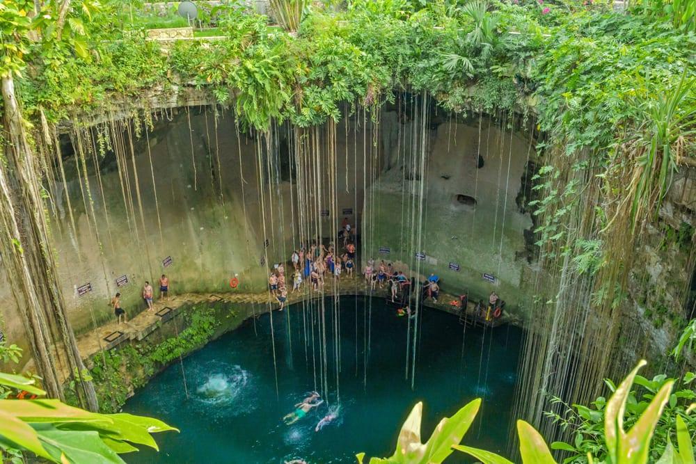 Cenote Ik Kil sinkhole in Mexico