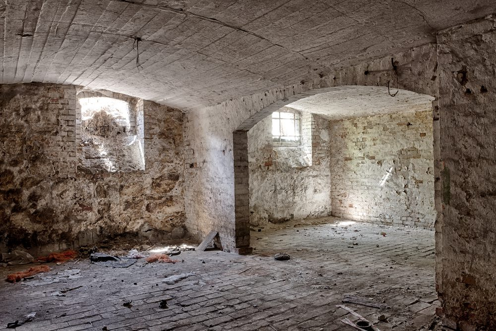 Empty stone basement