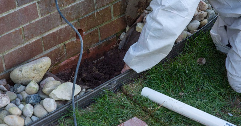 working exterior drainage