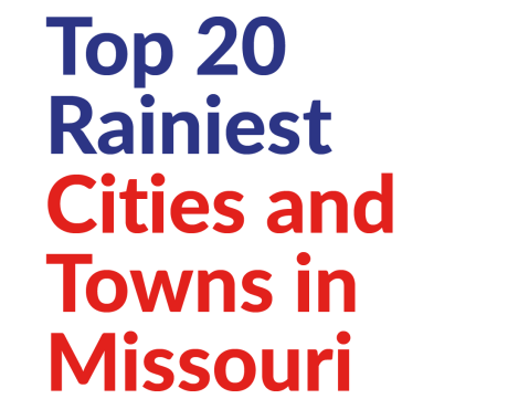 Top 20 Rainiest Cities and Towns in Missouri