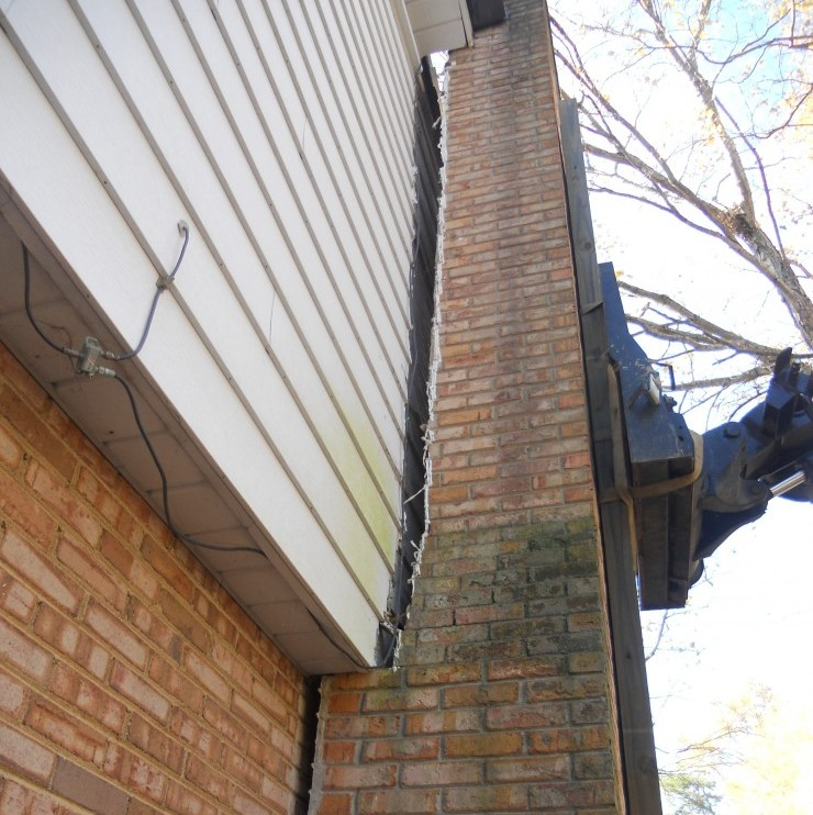 Leaning Chimney Foundation Repair  NC SC and Southeast