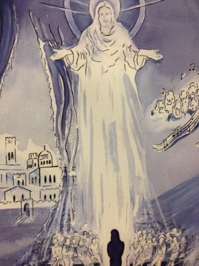 Mercy, an original painting by Clara Rushing, illustrating a vision from God that she experienced upon the day of her salvation (Credit: Clara Rushing)
