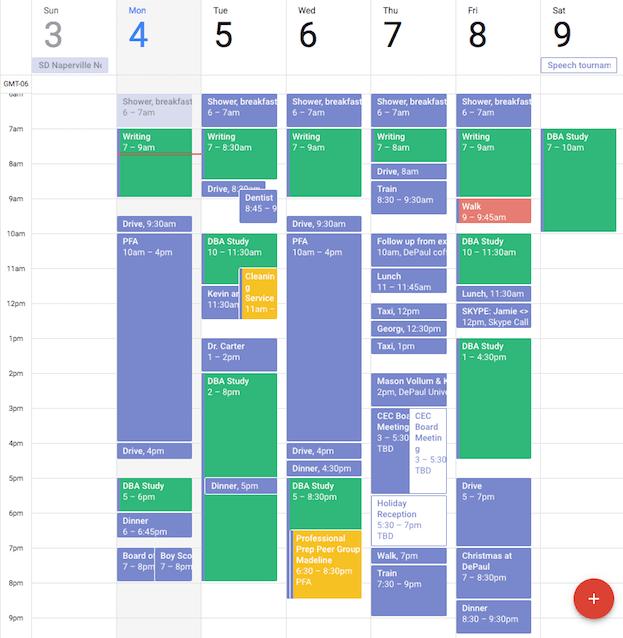 A full calendar