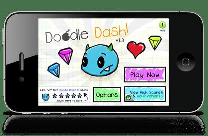 Doodle Dash made with the Corona SDK
