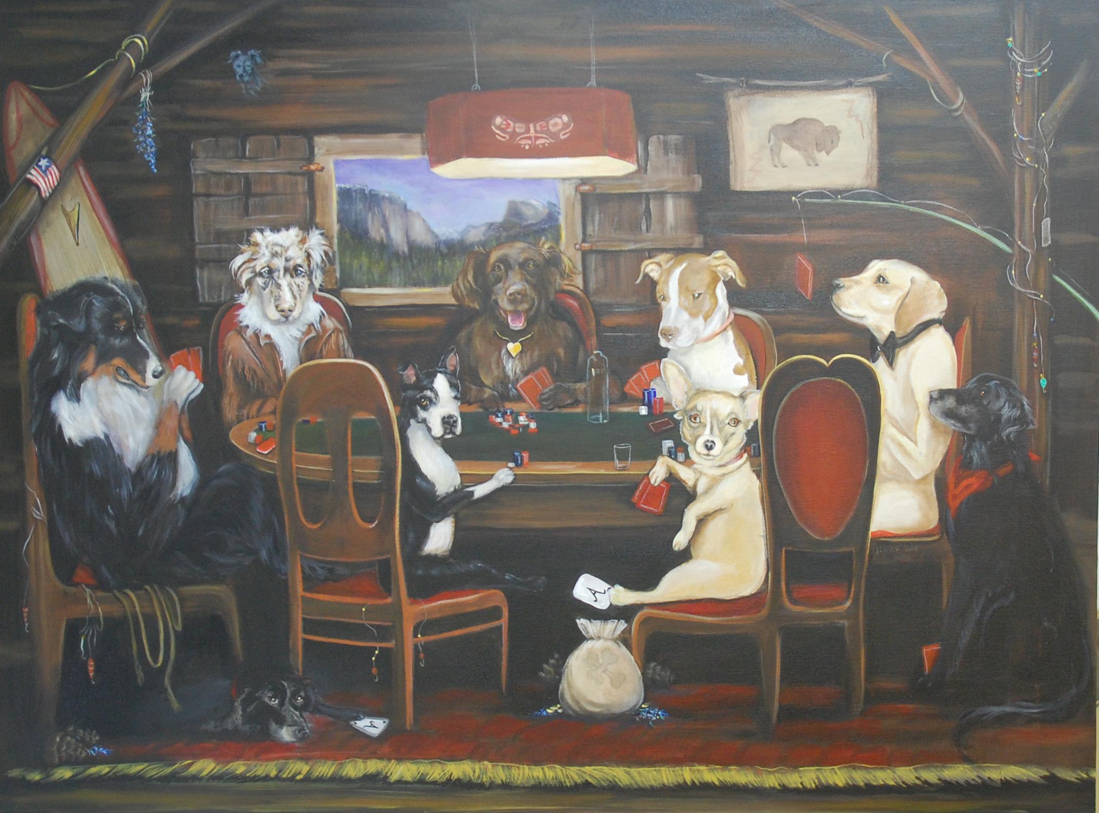 Dogs Playing Poker Original Print 67241 TIMEHD