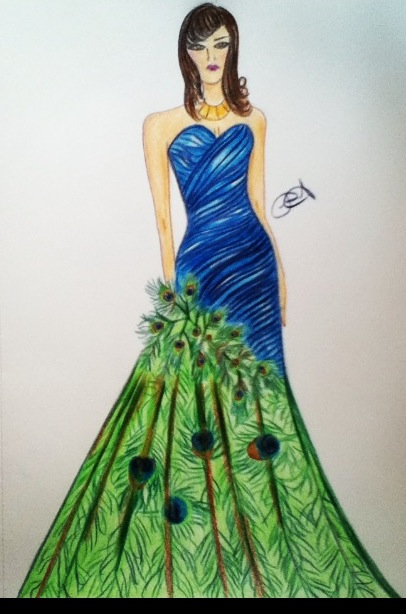 Peacock Dress Eddieray Foundmyself