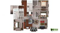 3D Luxury Floor Plans Design For Residential Home