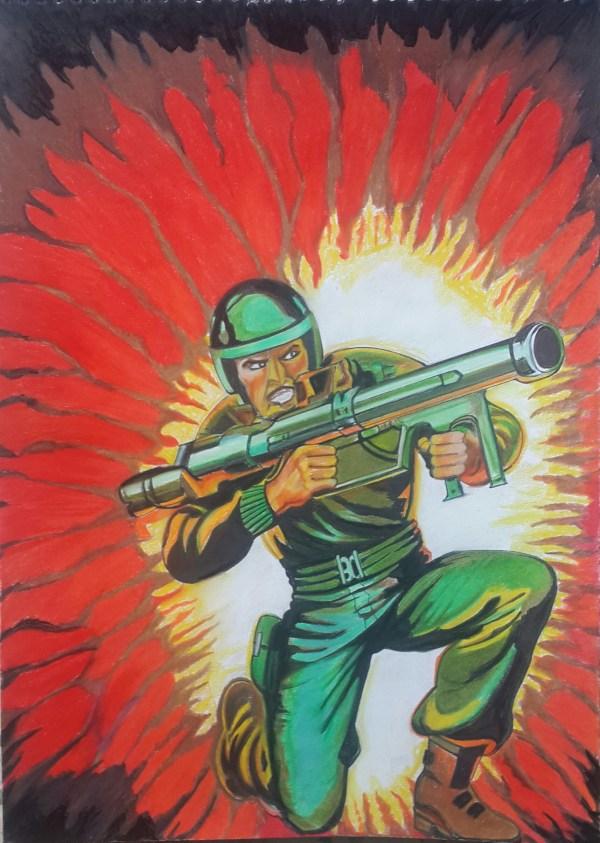 Joe - Zap Illustration Giclee Print Vickysalvi10