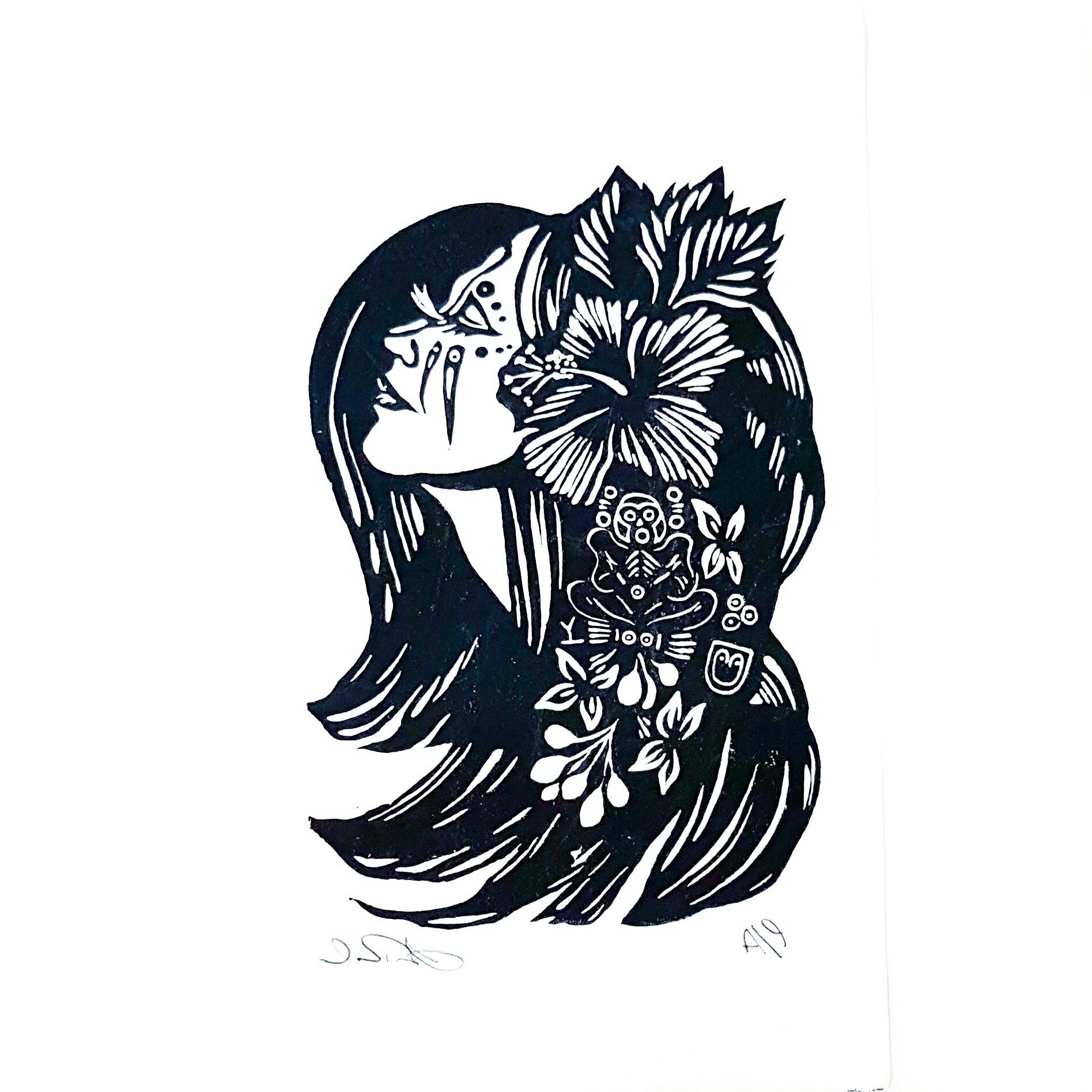 Taino Woman Illustration Inspired On Caribbean Native