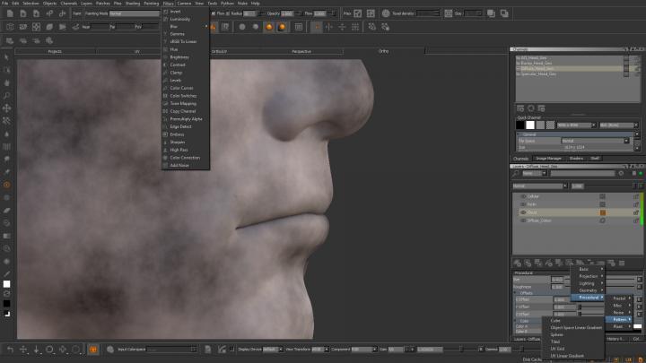 Mari procedurals, adjustment layers and mask image