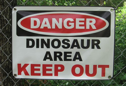 Dinosaur Area | Keep Out