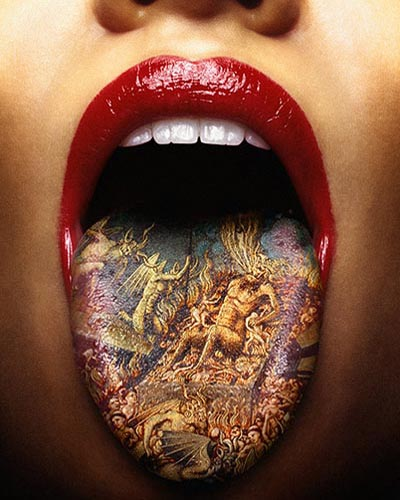 Tags: photo, Photoshopped, tattoo, tongue
