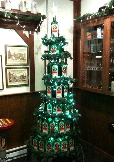 Jagermeister Christmas Tree  Funny Bizarre Amazing