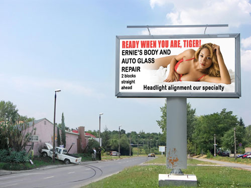 Sexy Billboard Causes Crash