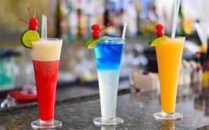 Colorful cocktails at Elodias Anguilla