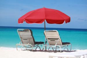 Beachfront chairs at Sandy Ground Anguilla