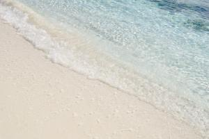 Waves on the shore of Sandy Island Anguilla