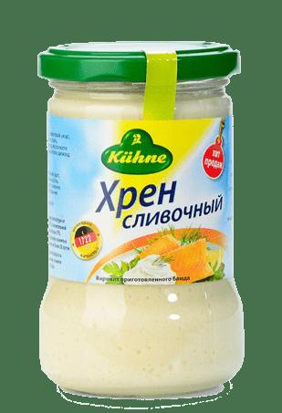 Хрен сливочный, KUHNE Creamed horseradish, 250 г