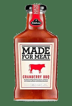 """Соус томатный барбекю с клюквой, KUHNE """"Made for Meat"""" Cranberry BBQ, 375 мл"""