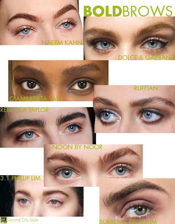 Bold Brows, beauty trends, runway beauty fall 2014