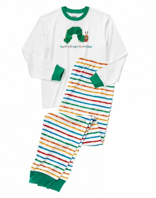 gymboree, Eric Carle, caterpillar pajamas