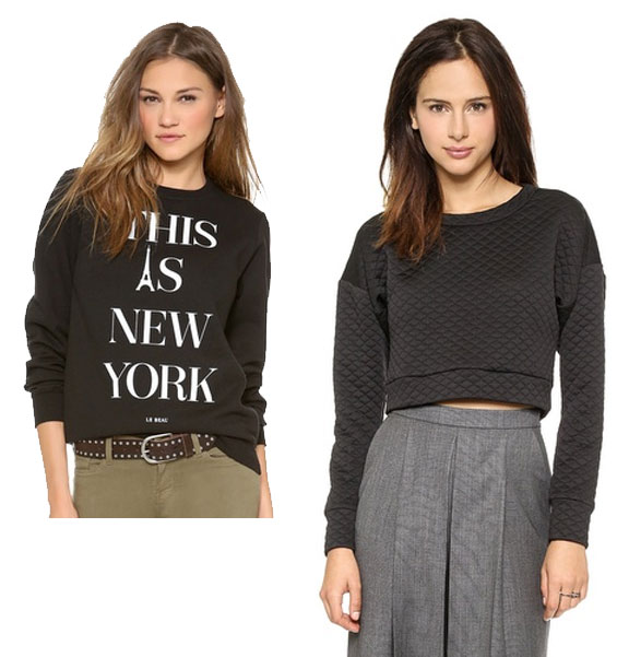 Le Beau, This Is New York, Sweatshirt, Charles Henry, Crop Quilted Pullover