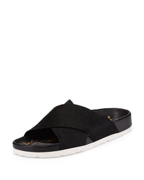 Sam Edelman - Adora Crisscross Calf Hair Sport Sandal, black $110 - Neiman Marcus