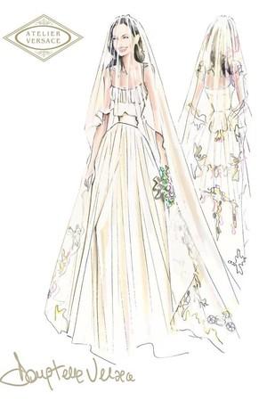 angelina jolie versace wedding dress sketch