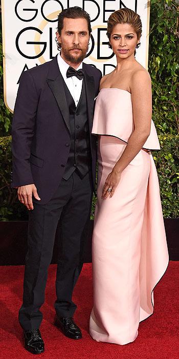 Matthew McConaughey & Camila Alves Camila Alves in Monique Lhuillier