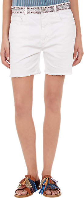 Isabel Marant, Embroidered Cut-Off Jeans Shorts
