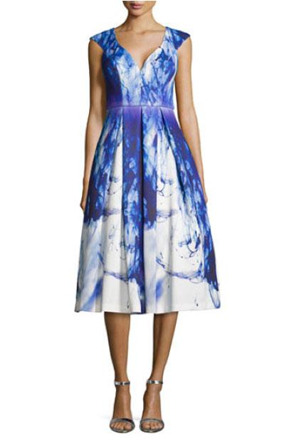 Black Halo, Paintbrush-Print, Cocktail Dress