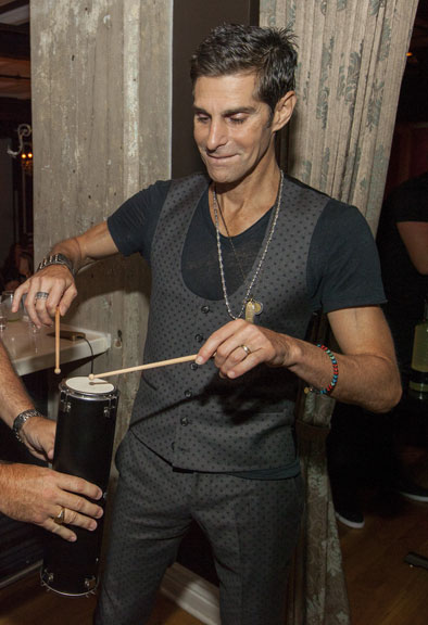 Perry-Farrell-Dobel Drumming Tequila container