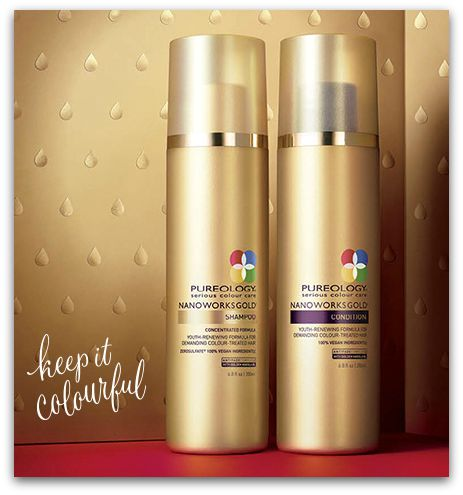 Pureology, Shampoo & Conditioner, Nano Works Gold, keep it colorful