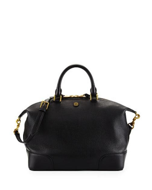 Tory Burch - Frances Medium Slouchy Satchel Bag, Black - $495 - Cusp
